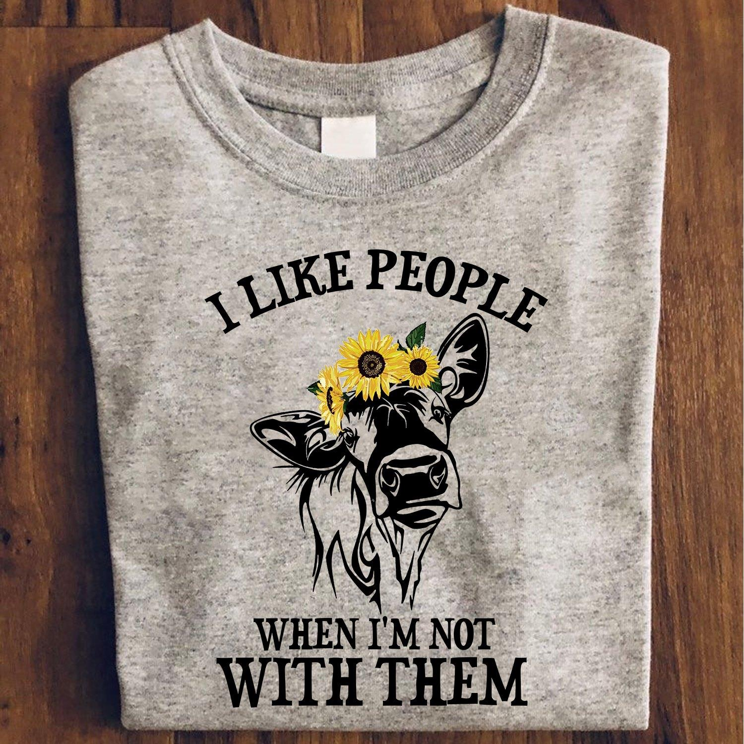 I Like People When I'm Not With Them Shirt