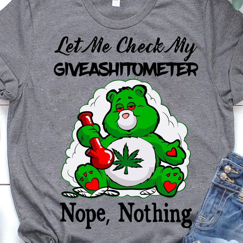 Let Me Check My Giveashitometer Nope Nothing Shirt