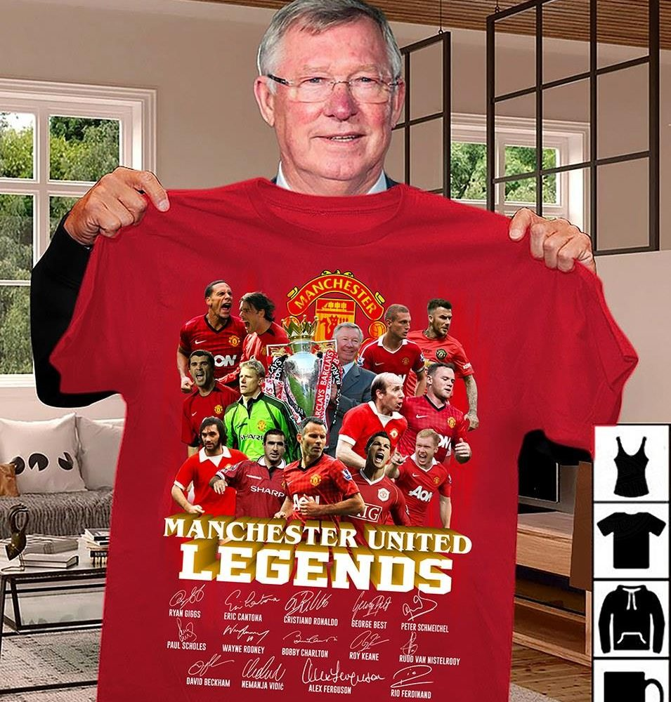 Manchester United Legend And Members Signature Shirt