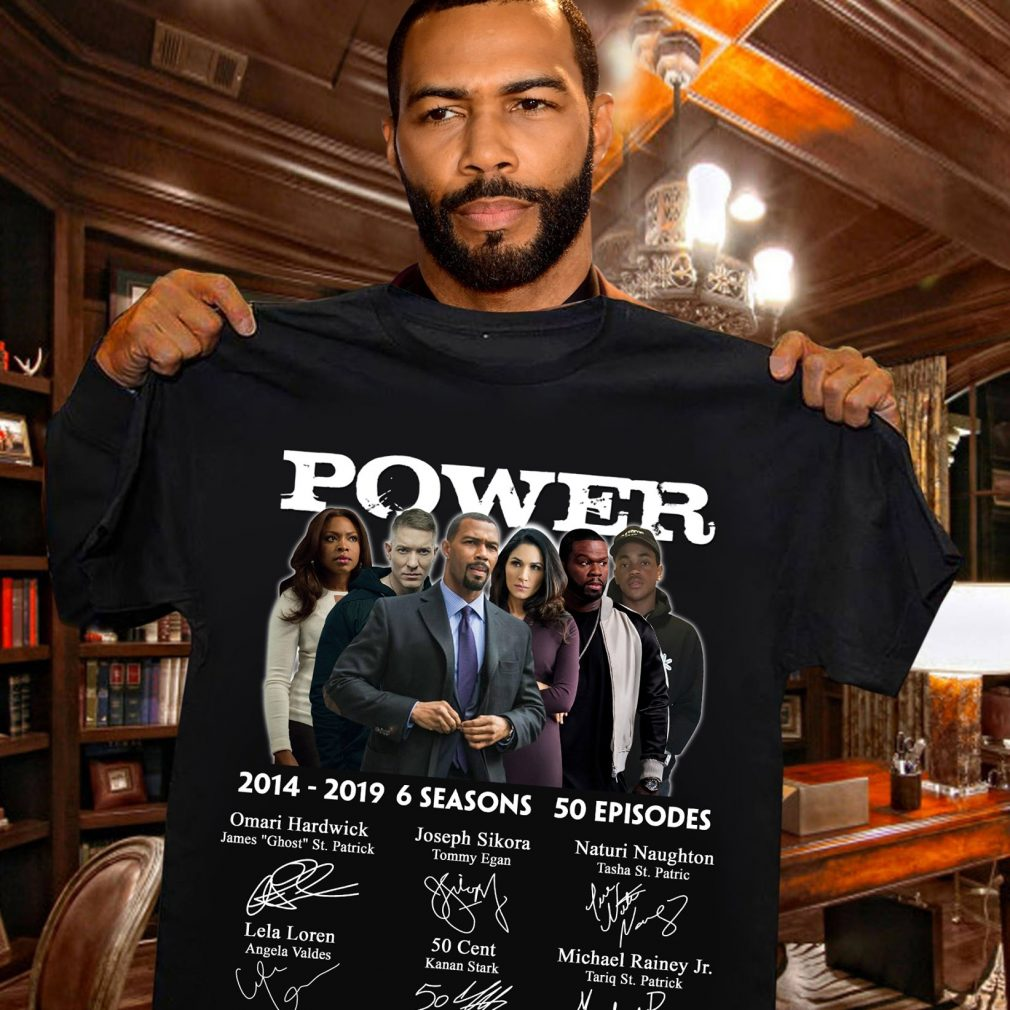 Power 2014 - 2019 6 Seasons And 50 Episodes Signatures Shirt