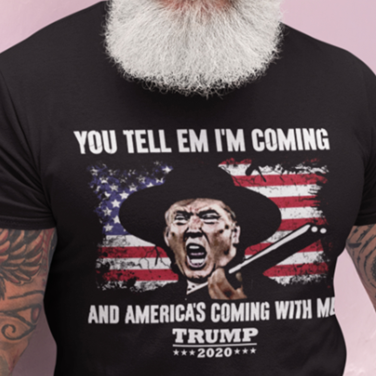 You Tell Em I'm Coming And America's Coming With Me Trump Men T-Shirt